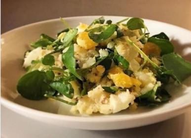 クレソンのポテトサラダ,山菜