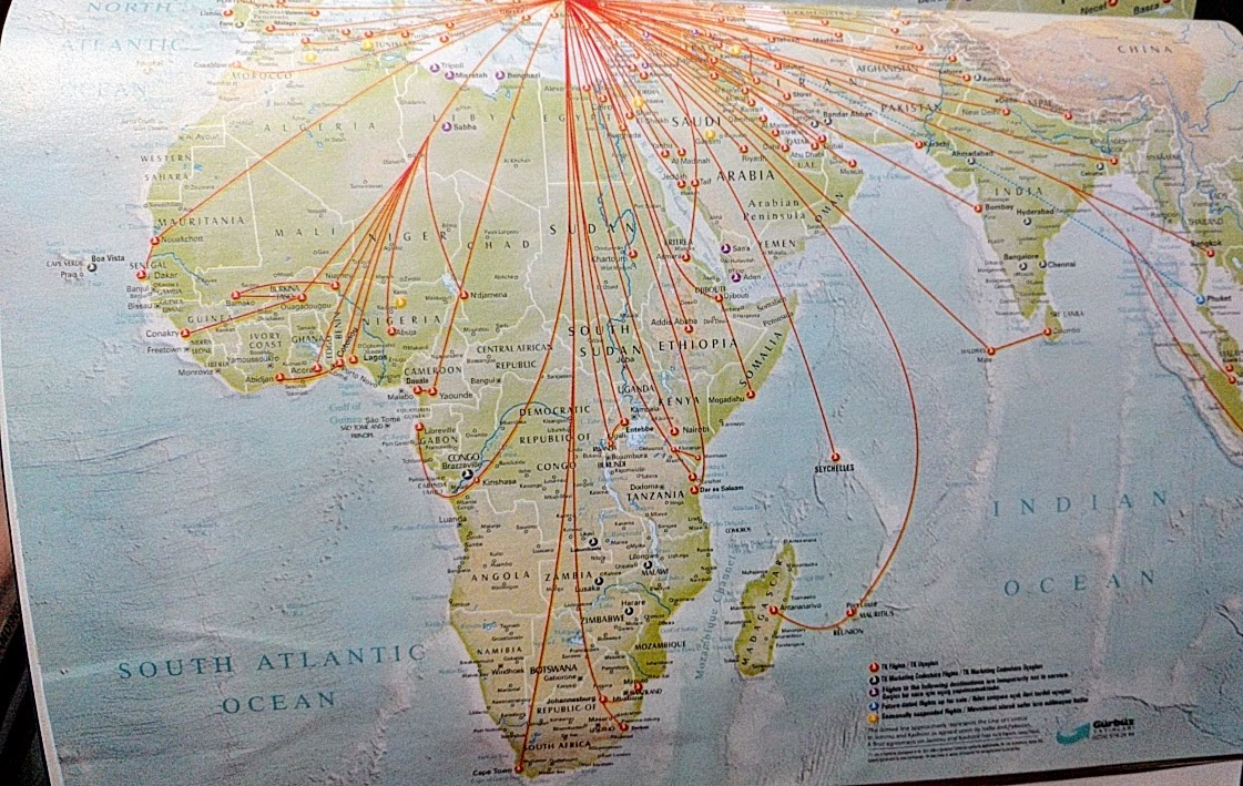 Turkish Airline map