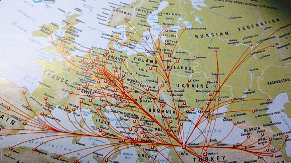 Turkish airlines route map
